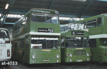 Western National Daimler Fleetline THM643M Truto garage